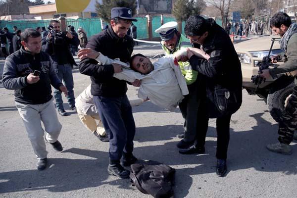 Ilustrasi-Ledakan terjadi di Kabul, Afghanistan. Foto: Mohammad Ismail/Reuters.