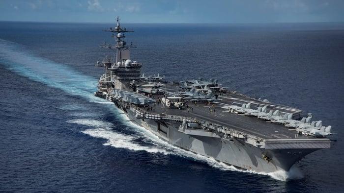 Ilustrasi-Kapal Induk Amerika Serikat. Foto: Reuters.
