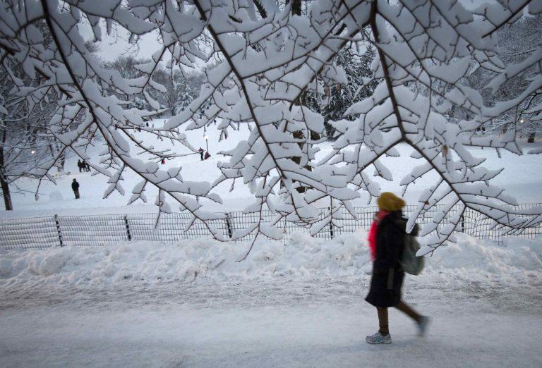 Cuaca dingin ekstrem di Texas. Foto: ANTARA/Reuters/Carlo Allegri/ox/14.