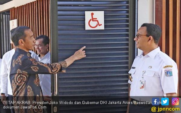 Presiden Joko Widodo dan Gubernur DKI Jakarta Anies Baswedan. Foto: Dok JawaPos.com/JPNN.com