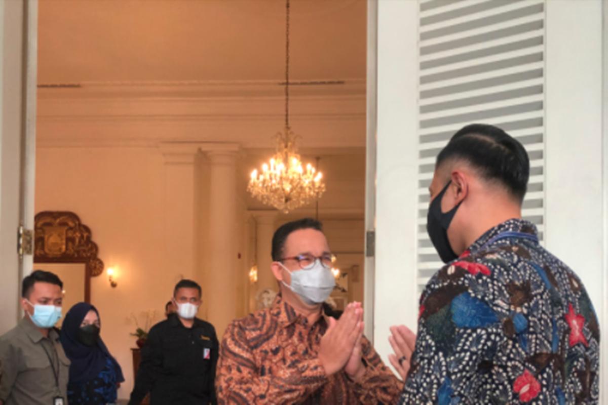 AHY dan Anies Baswedan saat bertemu di Balai Kota pada Kamis, 6 Mei 2021 (foto: Mia Kamila/GenPI.co)