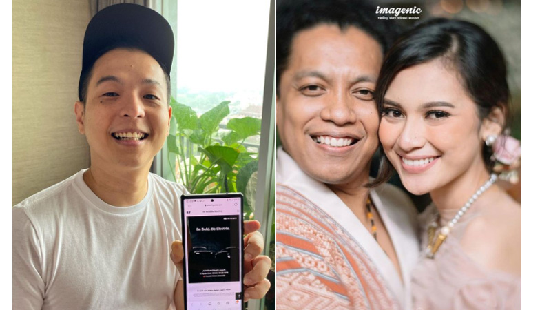 Ernest Prakasa (kiri) bongkar alasan Indah Permatasari mau dinikai Arie Kriting (foto: SC IG @ernestprakasa dan @indahpermatas)