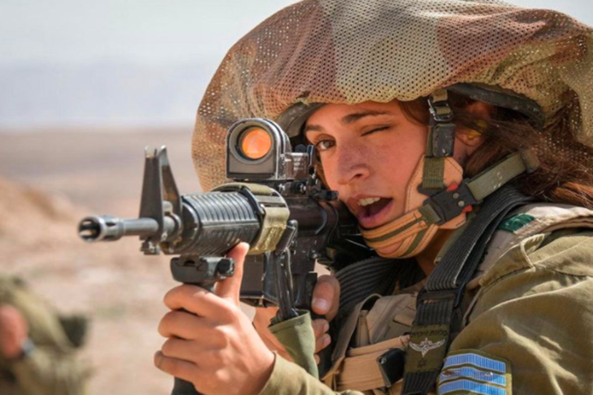 Tentara cewek Israel (foto: SC IG @idf)