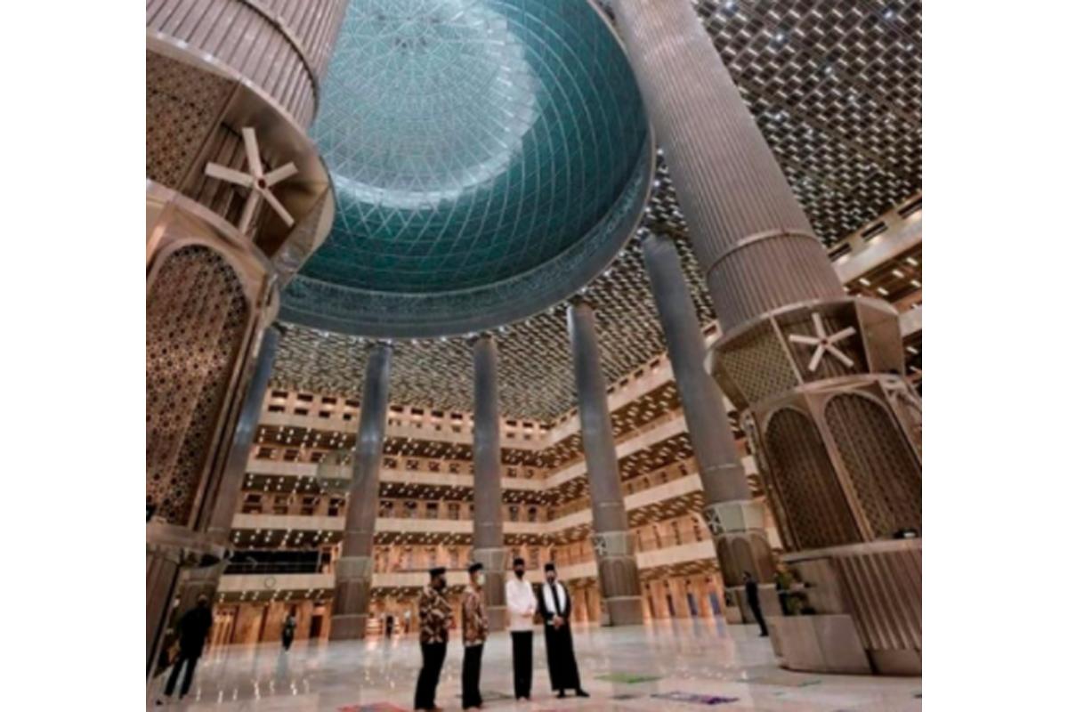 Decak Kagum Lihat Megahnya Masjid Istiqlal Usai Renovasi