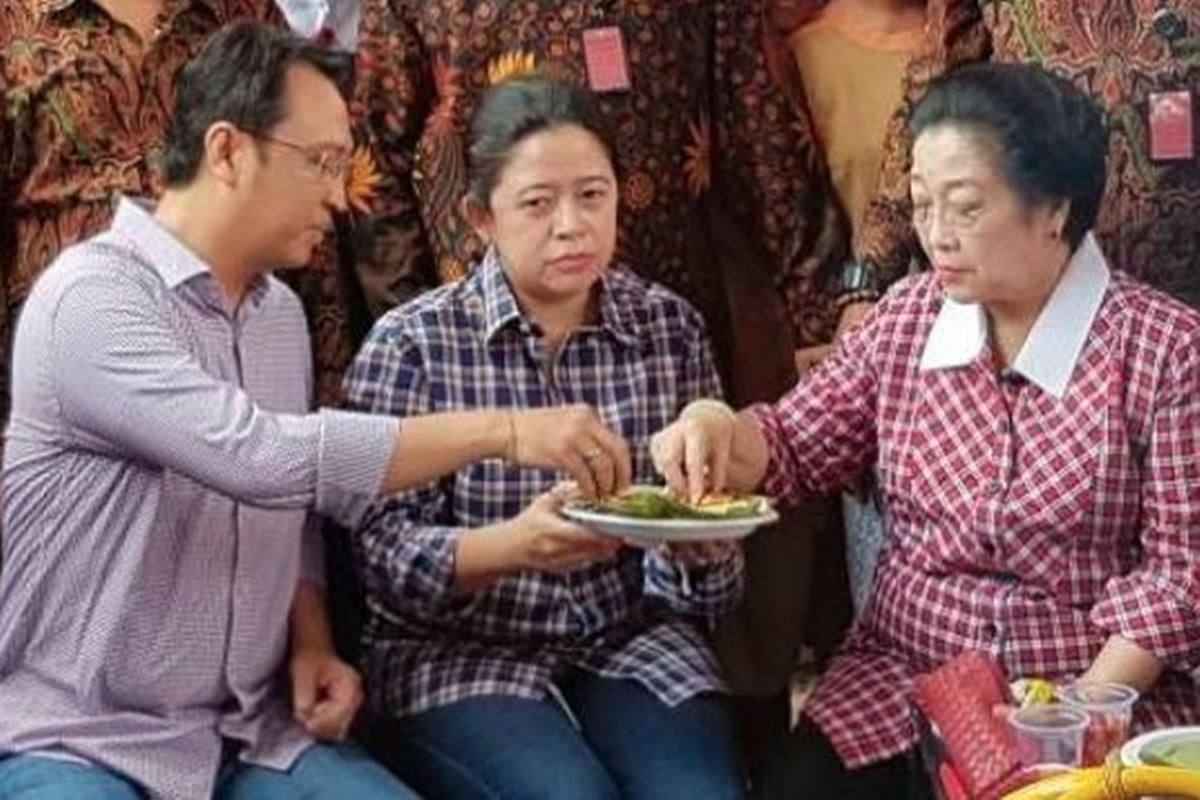 Prananda, Puan, dan Megawati (foto: JPNN)