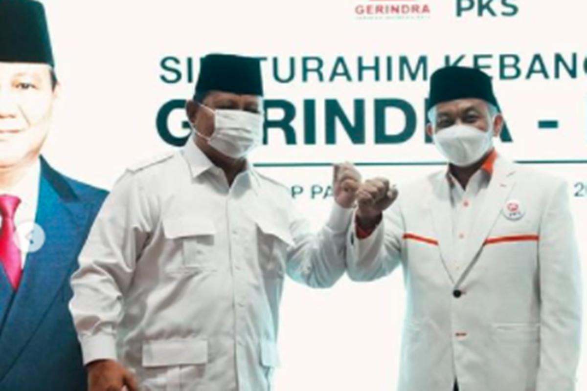 Prabowo Subianto dan Ahmad Syaikhu (foto: SC IG @gerindra)