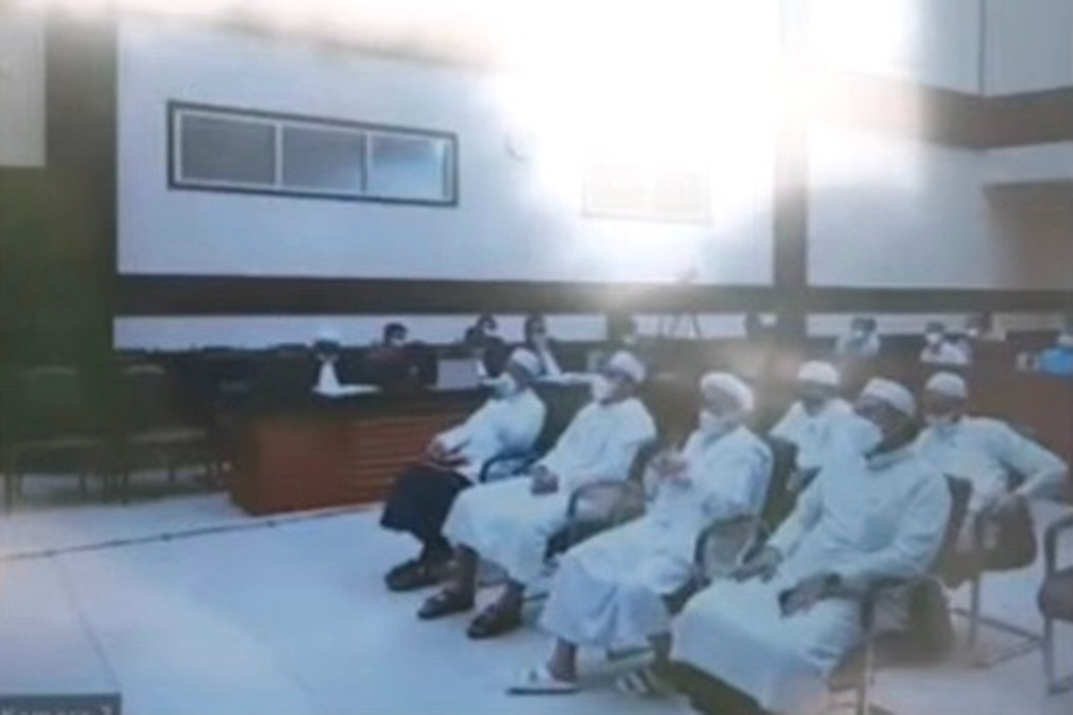 Sidang kasus Habib Rizieq Shihab, Senin (3/5/2021) (foto: GenPI)