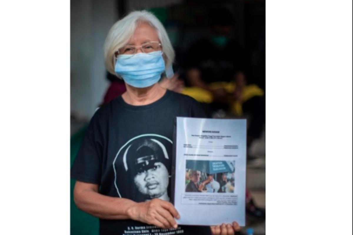 Keluarga korban tragedi Semanggi (foto: Dok. koalisi keadilan Semanggi I dan II)