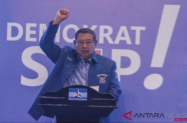 Susilo Bambang Yudhoyono (SBY) ikut mengomentari kisruh kudeta di Partai Demokrat, ANTARAFOTO/Yulius Satria Wijaya/aww/17.