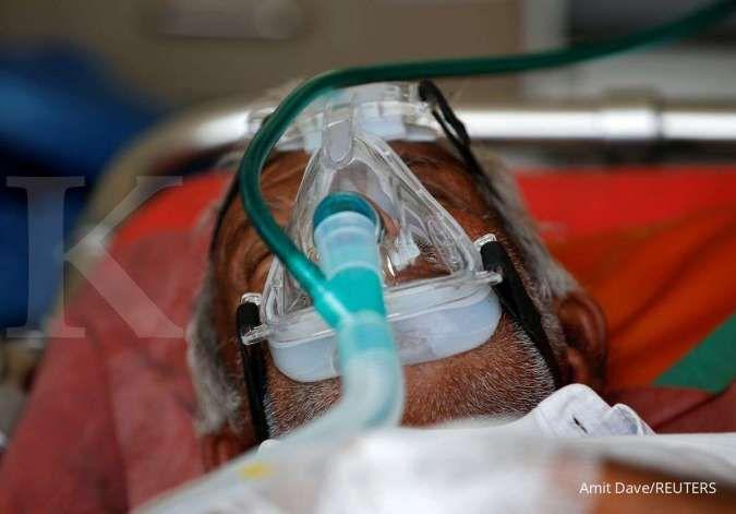 ilustrasi pasien covid-19 di India. Foto: amit dave/reuters