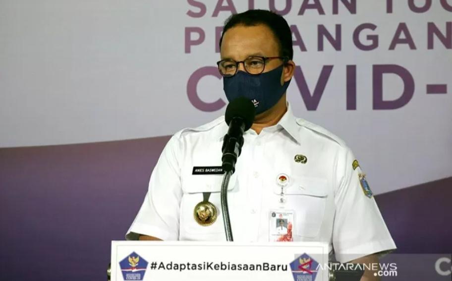 Gubernur DKI Jakarta Anies Baswedan. ANTARA/Tim Komunikasi Publik Satuan Tugas Penanganan COVID-19/pri.