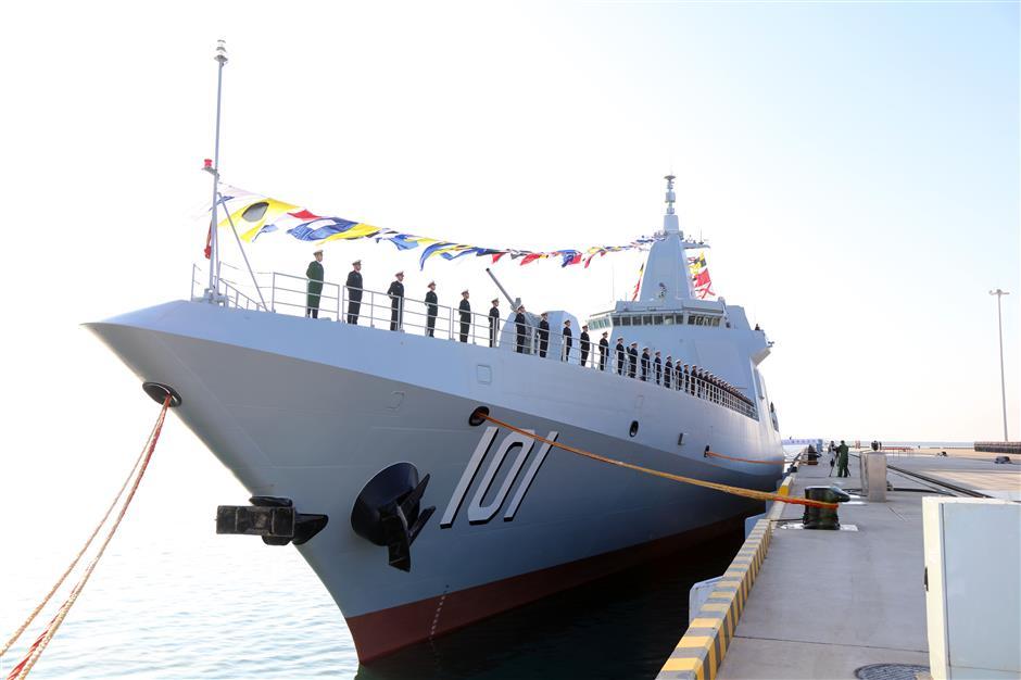 Kapal perang type 055 milik China. Foto: xinhua