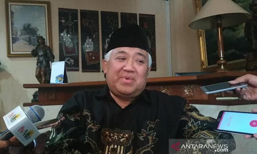 Pemuka agama dan tokoh Islam, Din Syamsuddin. ANTARA/Boyke Ledy Watra/am.