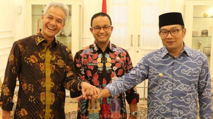 Ganjar Pranowo, Anies Baswedan, dan Ridwan Kamil. Foto: instagram @ganjarpranowo.