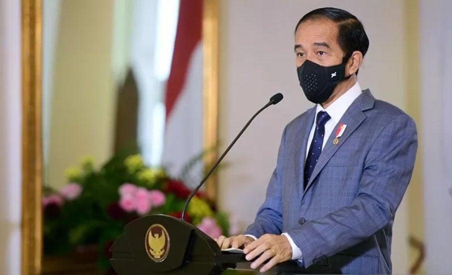Presiden Jokowi membuka Inovasi Indonesia Expo 2020 pada Selasa (10/11/2020). ANTARA/HO-Biro Pers Setpres/Muchlis Jr/am.