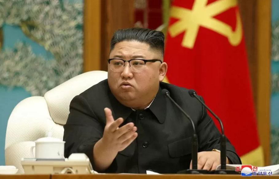 Pemimpin Korea Utara Kim Jong Un. (KCNA), Senin (16/11/2020). ANTARA FOTO/KCNA via REUTERS/hp/cfo