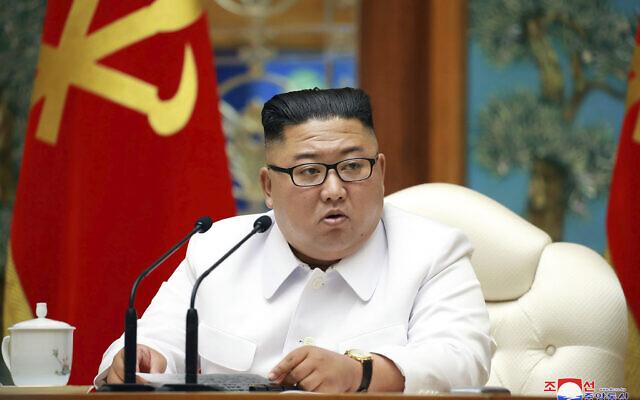 Kim Jong Un . (Korean Central News Agency/Korea News Service via AP)