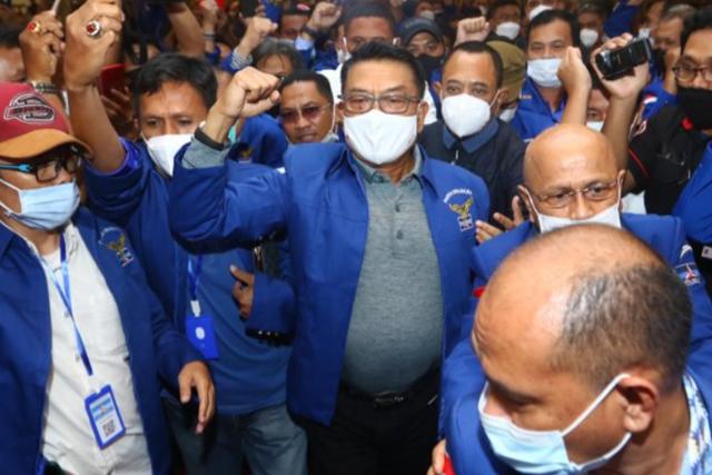 Moeldoko saat di KLB Partai Demokrat, Deli Serdang.. Foto: antaranews/cc