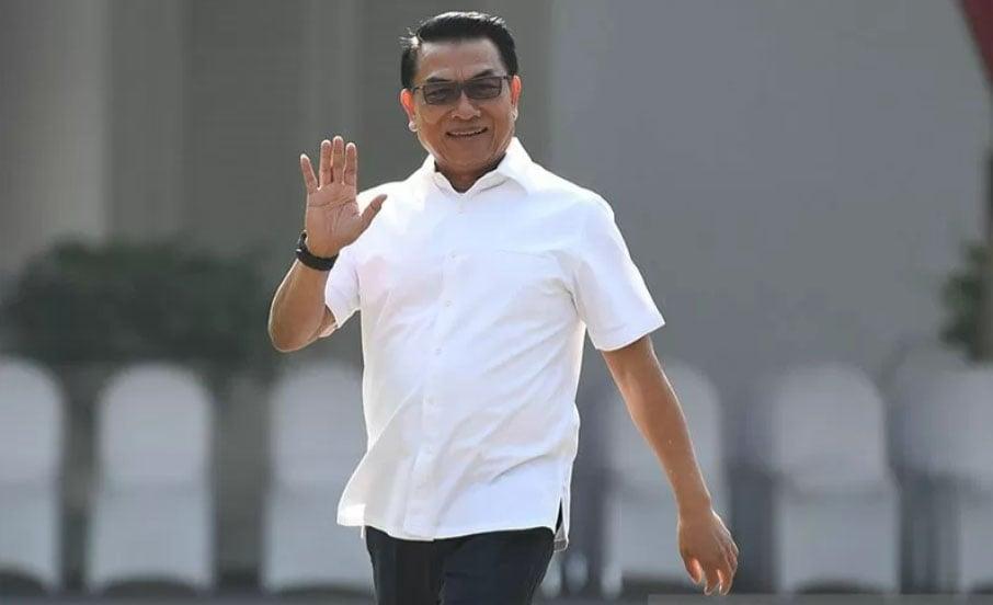 Moeldoko saat tiba di Kompleks Istana Kepresidenan. ANTARA FOTO/Puspa Perwitasar