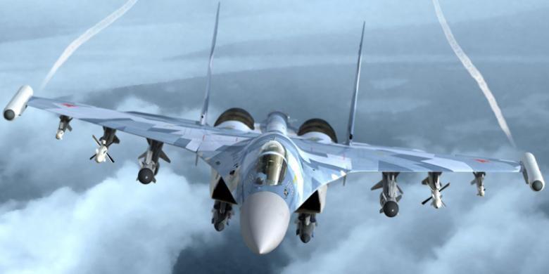 Ilustrasi: Sukhoi Su-35. Foto: KnAAPO