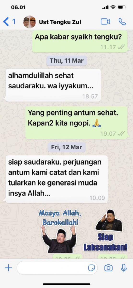 Fahri Hamzah Jadi Sorotan, Unggah Pesan Terakhir Ustaz Zulkarnain