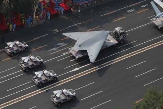 Ilustrasi drone tempur siluman China GJ-11 .Foto: Global Times