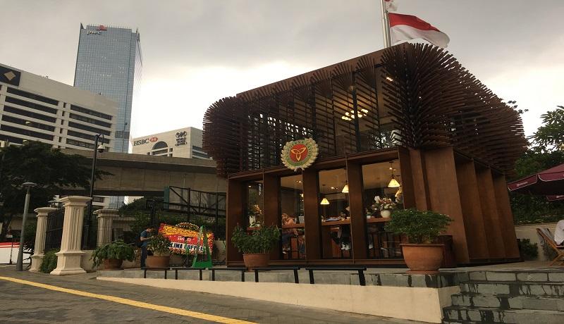 Kafe SSS terlihat bangunannya yang unik dan ikonik. Foto Mia