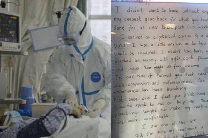 Surat Penuh Makna Pasien ke Perawat Coeona, Isinya BIkin Nangis