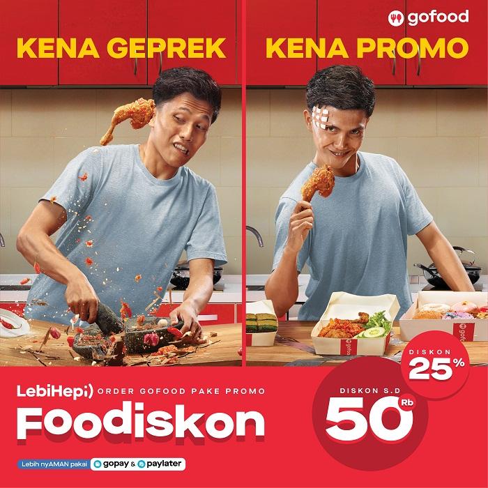 Promo Foodiskon GoFood Manjakan Pencinta Kuliner Indonesia