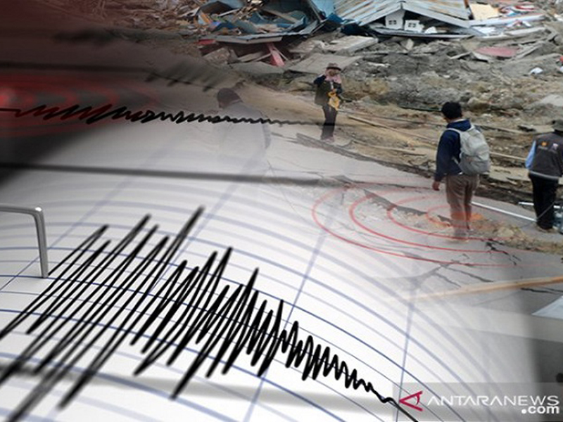 Ilustrasi gempa bumi. Foto: Antara