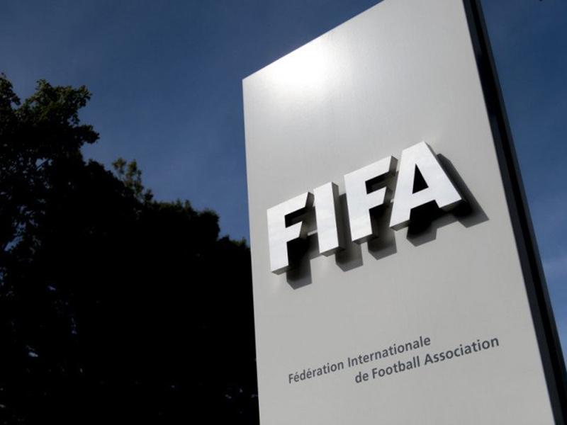 Logo FIFA terlihat di markas besarnya di Zurich, Swiss. Foto: Antara/AFP/FABRICE COFFRINI