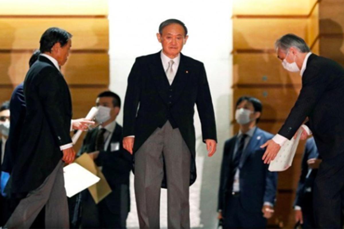 Perdana Menteri Jepang Yoshihide Suga. Foto: Antara/Reuters/Issei Kato