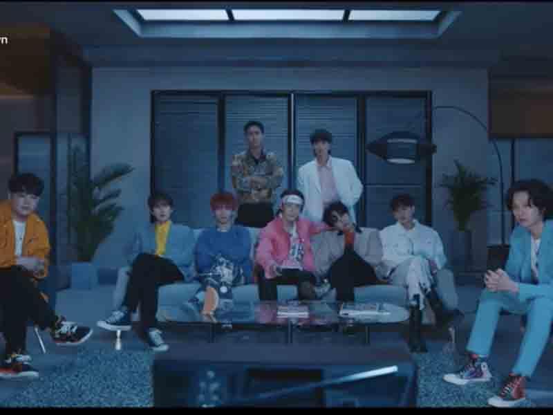 Lagu terbaru Super Junior ingatkan masyarakat untuk mematuhi protokol kesehatan. Foto: TikTok superjunior_smtown