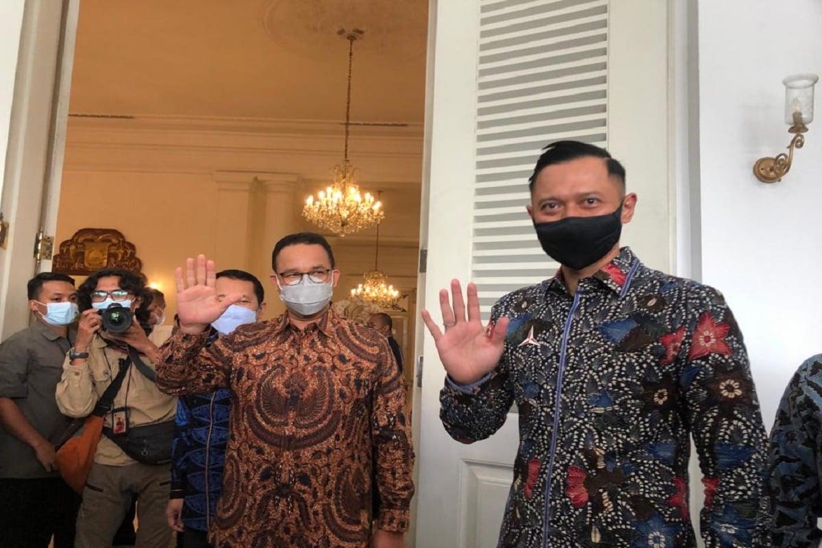 Gubernur DKI Jakarta Anies Baswedan dan Ketua Umum Partai Demokrat Agus Harimurti Yudhoyono (AHY). Foto: Mia Kamila/GenPI.co