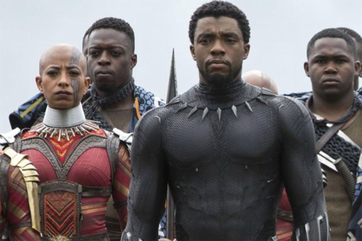 Chadwick Boseman dalam film Black Panther. Foto: snopes.com