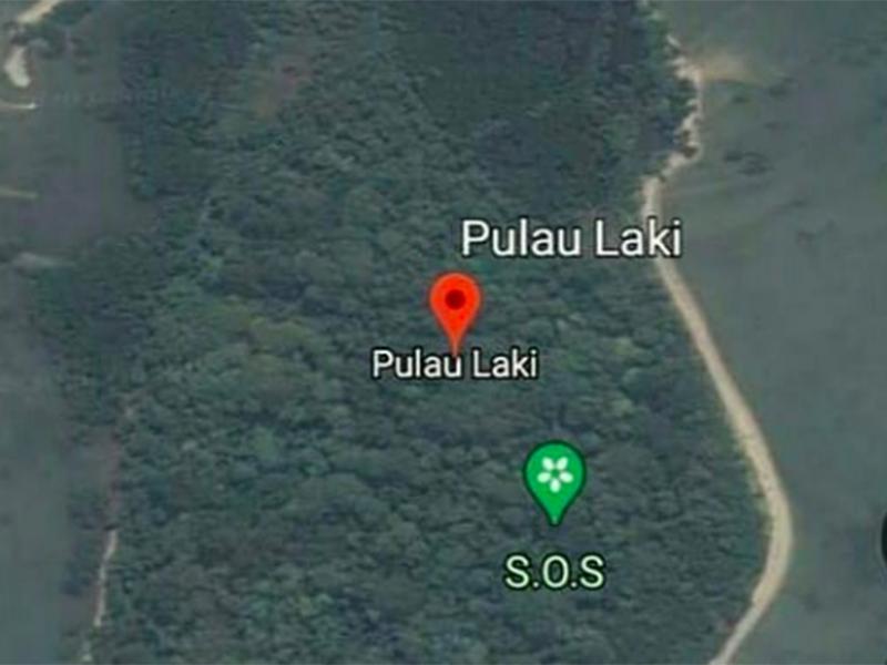 Makna Tulisan SOS di Google Maps Pulau Laki, Bikin Merinding!