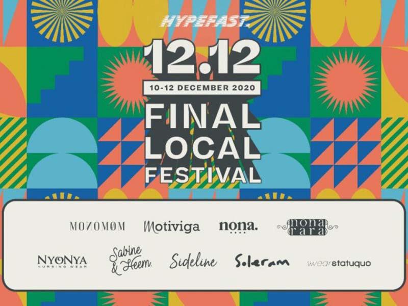 Poster gelaran 12.12 Final Local Festival. Foto: Antara