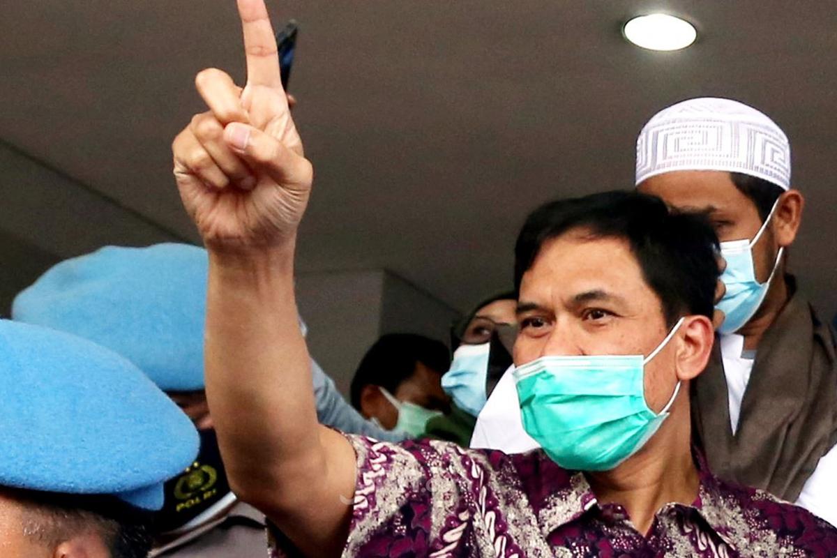 Mantan Sekretaris Umum Front Pembela Islam (FPI) Munarman. Foto: JPNN.co/GenPI.co