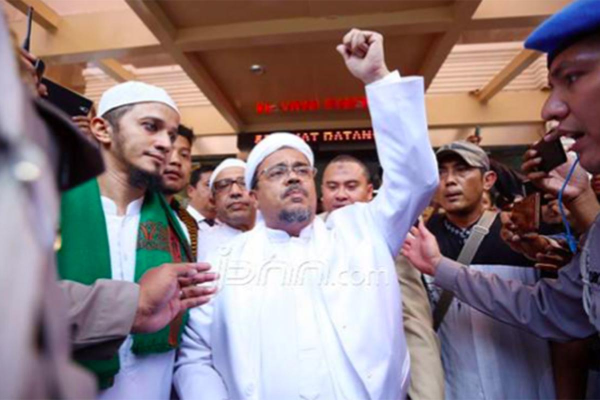Eks Imam Besar FPI Habib Rizieq Shihab. Foto: Ricardo/JPNN.com/GenPI.co