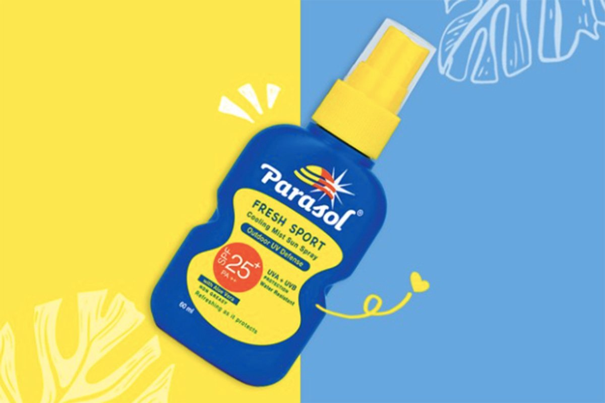 Sunscreen spray Parasol. Foto: Instagram @parasolindonesia