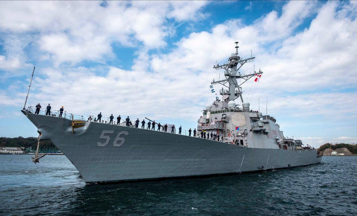 Kapal perang Amerika USS John McCain siap tantang China. Foto: military