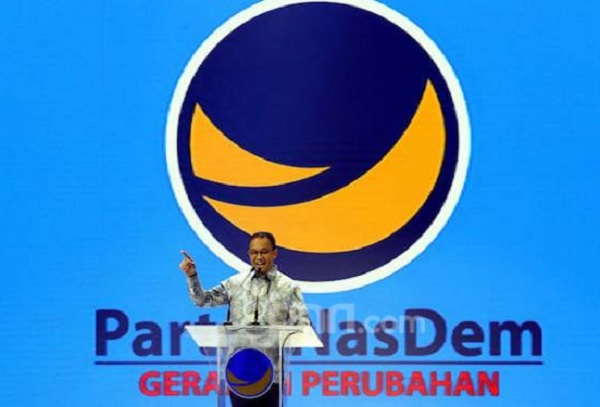 Gubernur DKI Jakarta Anies Baswedan menghadiri Kongres II Partai NasDem, Jakarta, Jumat (8/11). Foto: Ricardo/JPNN.com