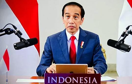 Presiden Joko Widodo saat menghadiri pertemuan virtual World Economic Forum (WEF), dari Istana Kepresidenan Bogor, Jawa Barat, Rabu (25/11/2020). ANTARA/HO-Biro Pers Setpres/am.
