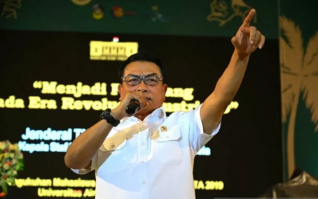 Kepala Staf Kepresidenan Jenderal TNI (Purn) Moeldoko. ANTARA/HO-Unair/aa.