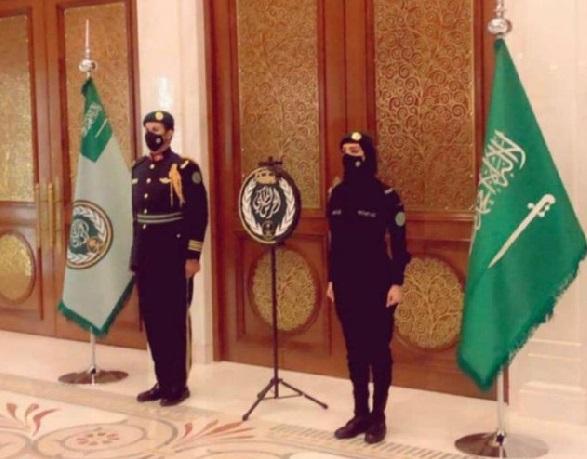 Ilustrasi Tentara atau Askar Perempuan Pengawal Raja Salman di Kerajaan Arab Saudi (Foto: Twitter @ Sattam Al Saud)