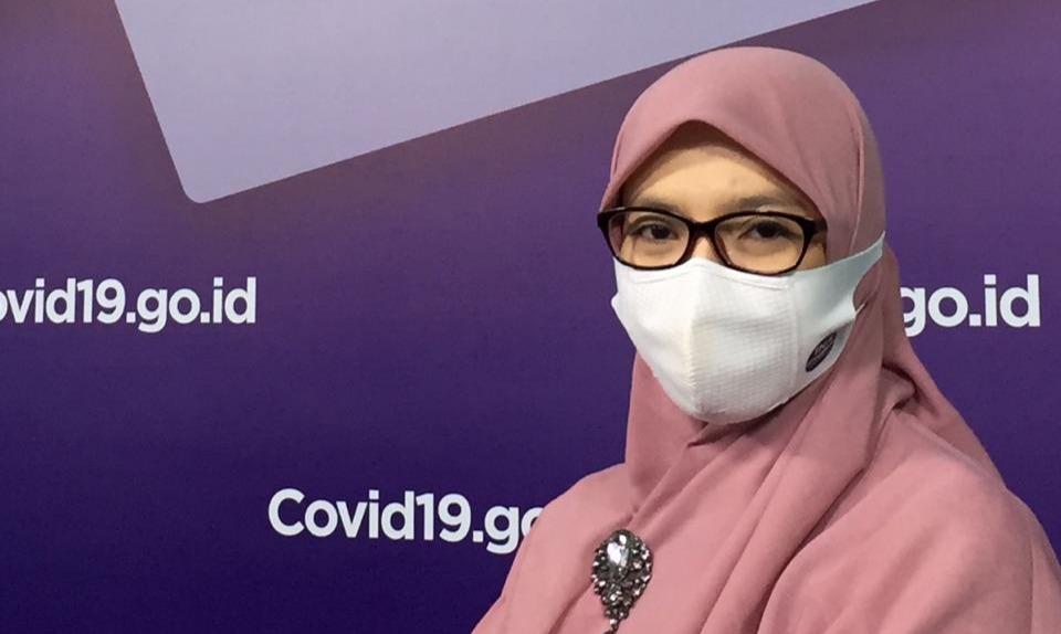 Ketua Bidang Data dan Teknologi Informasi Satuan Tugas Penanganan Covid-19, Dr. Dewi Nur Aisyah. Foto: BNPB