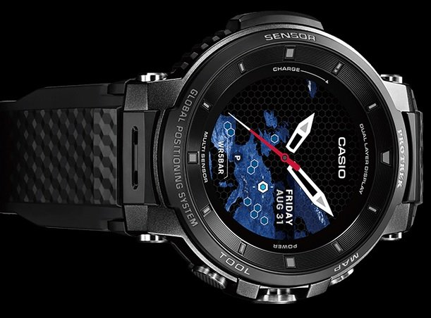 Casio Pro Trek WSD-F30-BK, Jam Tangan dengan Fitur Canggih