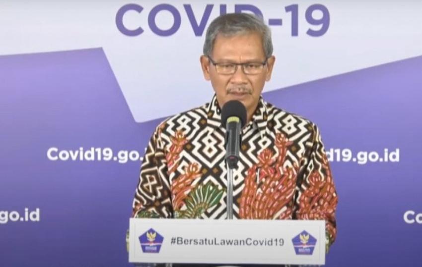 Jurubicara Pemerintah untuk Penanganan Covid-19, Achmad Yurianto. (ANTARA/Frisca Triferna)