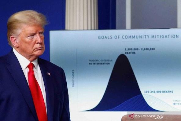 Virus Corona Lumpuhkan Amerika, Trump: Situasi Sangat Menyakitkan