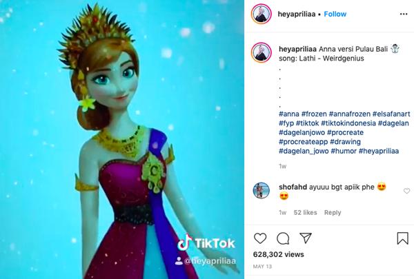 Kerennya Elsa dan Anna Frozen Pakai Baju Adat Indonesia